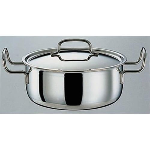 IH対応 服部先生のステンレス7層構造鍋「ジオ」 両手鍋径25cm