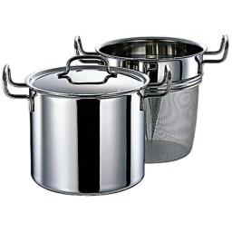 IH対応 服部先生のステンレス7層構造鍋「ジオ」 パスタポット径21cm パスタ以外にもたくさんのカレーやトン汁作りにも。