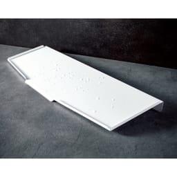 オールステンレス製シンクに渡せる水切り(フッ素加工トレー) スリムロング用 フッ素加工トレー単品