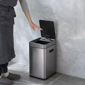 特典付き EKO ミラージュ 充電式センサービン スリム 容量20L ゴミ箱 写真