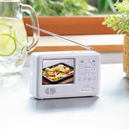 充電式テレビラジオ エコラジ7 (ア)ホワイト