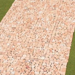 雑草が生えない天然石マット 同色12枚組