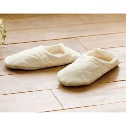パシーマ(R)でつくったルームシューズ 収納できる巾着袋付きです。