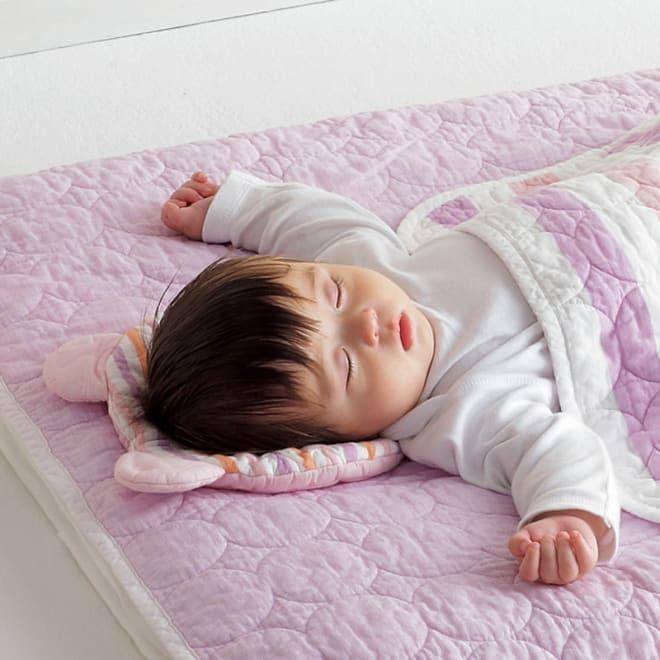 カラフルパシーマ pasima (R) ベビー汗とりわんわん枕 (ア)ピンクボーダー 汗かきの赤ちゃんにぴったりな汗取り枕です。 ※お届は汗取り枕のみになります。