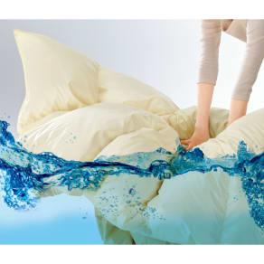 セミダブルロング (ウォッシュニング・ハウス(R) 洗える羽毛布団シリーズ 羽毛掛け布団) 写真