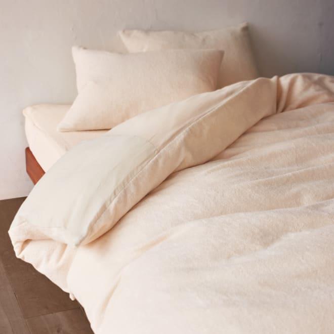 タオル好きにはたまらない!今治産タオル シーツ&カバー 掛け布団カバー (イ)アイボリー ※お届けは掛け布団カバーです。