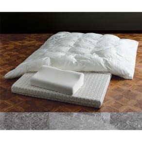 Afitお得なセット掛け敷き枕セットシングル(敷布団) 写真
