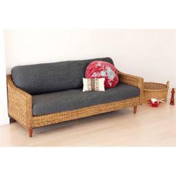 イタリア製[ブックレ]座面・背もたれ兼用カバー(1枚) 背もたれと座面が外れるセパレートタイプのソファに使用可能です。  (エ)ダークグレー ※写真は2.5~3人掛用を2枚使用しています。