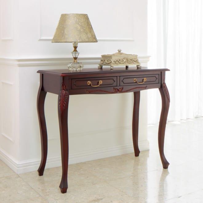 アンティーク調クラシック家具シリーズ コンソールデスク 人気のクラシックデザインがおしゃれなコンソールテーブル。