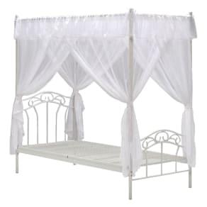 エレガントプリンセスベッド 天蓋付きシングルベッド(フレームのみ) 写真