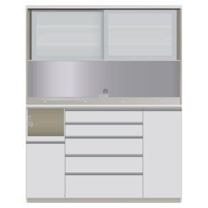ハイカウンターダイニング ガラス扉タイプ ハイカウンターボード W160D50H203/パモウナ JQL-1600R JQR-1600R 写真