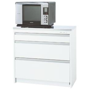 収納物を考えたキッチンカウンター ロータイプ(高さ85cm) 幅88.5cm 写真