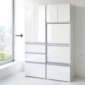 組立不要!家電を隠せるキッチン収納シリーズ 食器棚幅59.5cm 写真