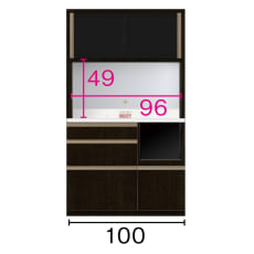 高機能 モダンシックキッチンシリーズ キッチンボード 幅100高さ178cm(カウンター高さ85cm)