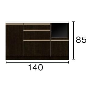 キッチンカウンター 幅140奥行45高さ85cm(高機能 モダンシックキッチンシリーズ) 写真