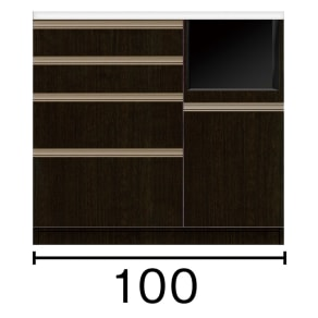 キッチンカウンター 幅100奥行45高さ93cm(高機能 モダンシックキッチンシリーズ) 写真