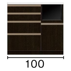 キッチンカウンター 幅100奥行51高さ93cm(高機能 モダンシックキッチンシリーズ) 写真