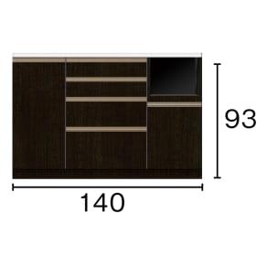 キッチンカウンター 幅140奥行51高さ93cm(高機能 モダンシックキッチンシリーズ) 写真