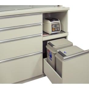 高機能 モダンシックキッチンシリーズ キッチンカウンター用20型ダストボックス2個 写真