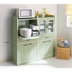 キッチン収納ミニ食器棚シリーズ レンジ台大(高さ120.5cm)