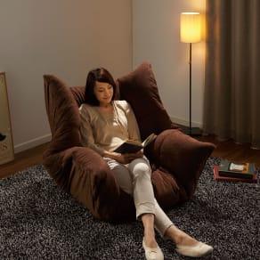 マルチリクライニング コンパクトソファ(座椅子) ハイバックタイプ 写真