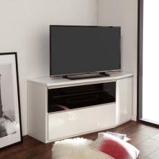 住宅事情を考えたコーナーテレビ台 ハイタイプ 幅123.5cm・右コーナー用(右側壁用)
