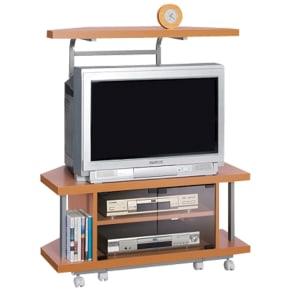 テレビ上の空間を有効活用できるシリーズ コーナー用テレビ台 幅90cm・棚1段 写真