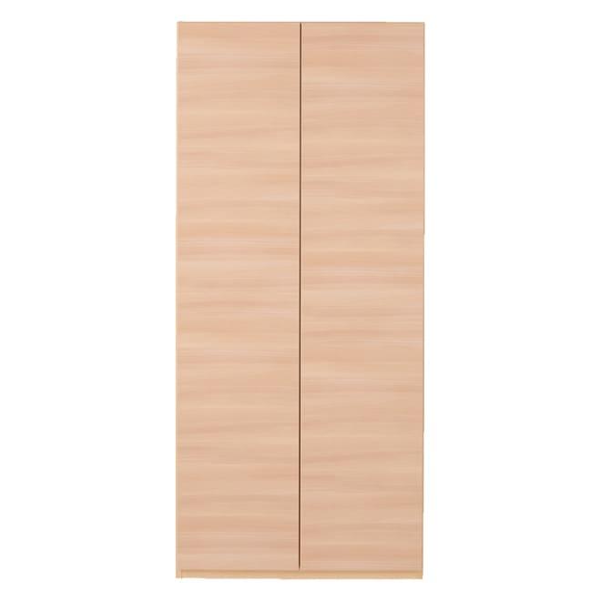奥行44cm 生活感を隠すリビング壁面収納シリーズ 収納庫 段違い棚タイプ 幅80cm (イ)ナチュラル