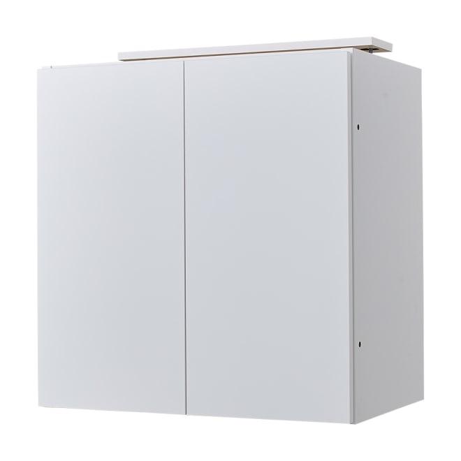 スイッチ避け壁面収納シリーズ 高さオーダー対応突っ張り上置き 奥行40cm 幅60cm・高さ30~80cm(1cm単位オーダー) (ア)ホワイト