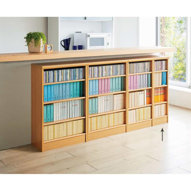 色とサイズが選べるオープン本棚 幅28.5cm高さ88.5cm 使用イメージ(オ)ナチュラル