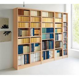 色とサイズが選べるオープン本棚 幅86.5cm高さ178cm 使用イメージ(ア)ライトナチュラル