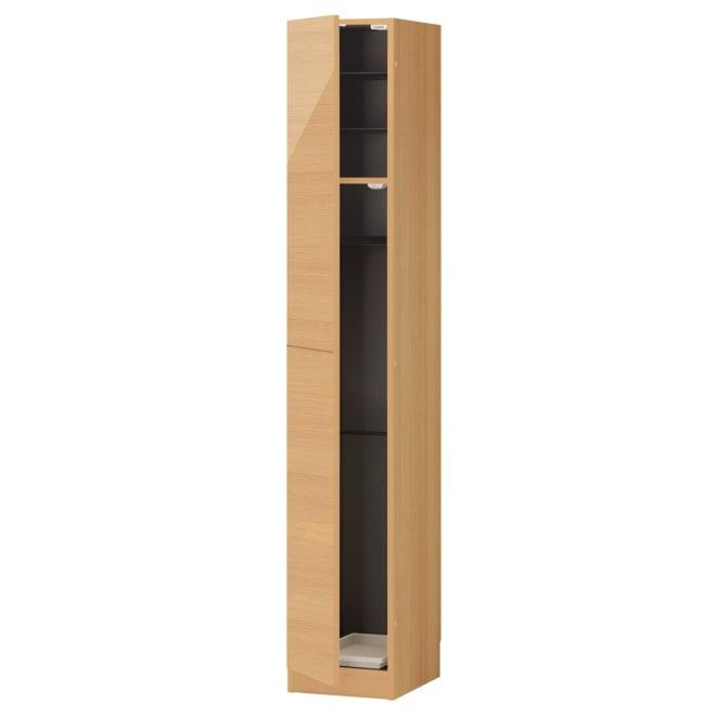 インテリアに合わせて8色&13タイプから選べるシューズボックス 傘 長尺収納(左開き) 幅30高さ180.5cm 収納目安:約4足 (ウ)ライトアッシュ木目