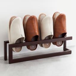 薄型スリッパラック ワイドサイズ(4足収納) 差し込むだけの簡単収納。圧迫感のないデザインで、玄関を広く見せてくれます。(※スリッパは商品に含まれません)