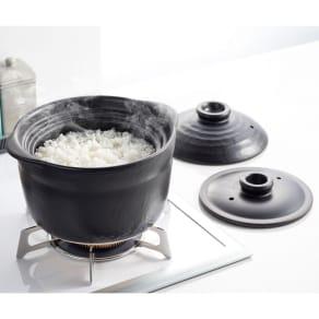 萬古焼 大黒ご飯鍋3合炊き 写真