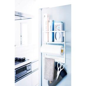 マグネット取り付け冷蔵庫サイドラック 写真