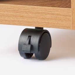 幅調節可能!スライド伸長式カウンター 幅91~126cm 引き出しタイプ 移動も固定も簡単なストッパー付きキャスター。