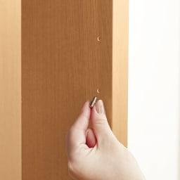 幅調節可能!スライド伸長式カウンター 幅91~126cm 引き出しタイプ オープン部の収納棚は、6cm間隔で高さ変更可能。