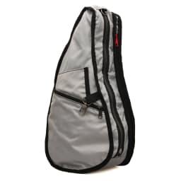 ヘルシーバックバッグ テクスチャードナイロン Sサイズ [内側] (ひっくり返した状態で撮影) ファスナー付きポケットや、鍵の定位置にできるキーフック・Dカン付き