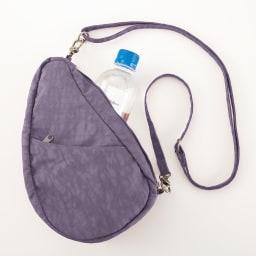 ヘルシーバックバッグ テクスチャードナイロン バッグレット プラム<br />小さくてもたっぷり入る。バッグインバッグとしても。