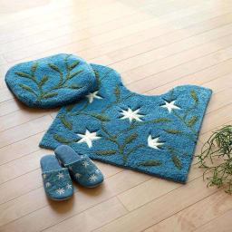 シビラ スリッパ 〈アメリア〉 色が選べる2足組(内寸 約24cm) コーディネート例(イ)ブルー系 ※お届けの商品はスリッパです。