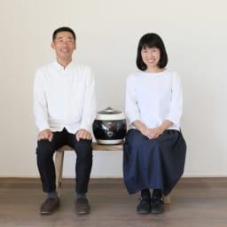 酵素玄米炊飯器 酵素玄米Labo 本体のみ 開発者のお二人 超高圧力炊飯器エンジニアの畔柳幹也氏と酵素玄米研究家の吉田美香子氏 お二人のこだわりにあふれた炊飯器です。