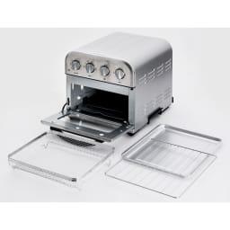 クイジナート エアフライオーブン トースター アイボリー限定カラー 単品 セット内容 写真はシルバーカラー。
