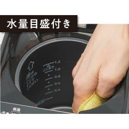 象印 STAN. /スタン 電気ポット 目盛付きで水の量も一目瞭然。手がすっぽり入る口径で、手入れもラクです。