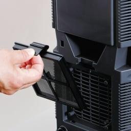 ライスクール 保冷こめびつ 5kgタイプ(実容量6kg) 裏側にあるエアフィルターも取り外してお掃除できます。