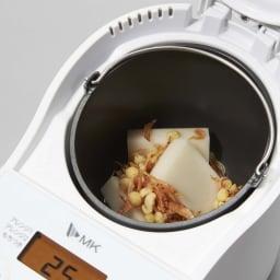 もちブレンダー エムケー精工 MK  餅つき機能と市販のお餅のアレンジ機能搭載! お餅やサクラエビなどのすべての材料を一気に投入!