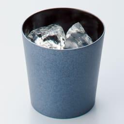 けやきのカップ 「うつろい」 山中漆器 (イ)クールブラック 氷を入れた冷たい飲み物も、手が冷たくならず飲めます。ビールやウイスキーのロックにも◎。