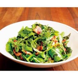 サラダハンド 熱々のベーコンを混ぜたサラダも上手にふんわり混ぜられます。