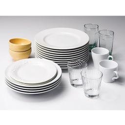 有元葉子のラバーゼ オールステンレス製水切りカゴセット 縦置き 大サイズ 入れやすく、容量たっぷり。 かごの中は広々。お皿やコップなど、形の違う食器が驚くほどたくさん入ります。