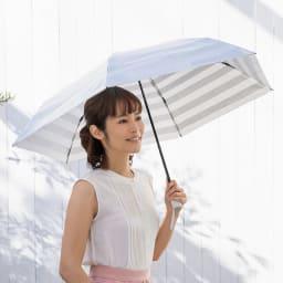 プレミアム ホワイトパール UV遮熱加工晴雨兼用折りたたみ傘 (ア)シルバー 55cm