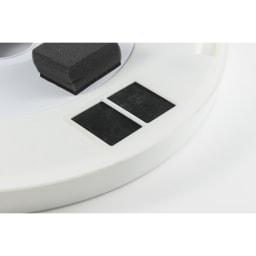 新LEDスマートシーリングファン「UZUKAZE」 3か所に設置されたフィルターで空気中のホコリをクリーンに。